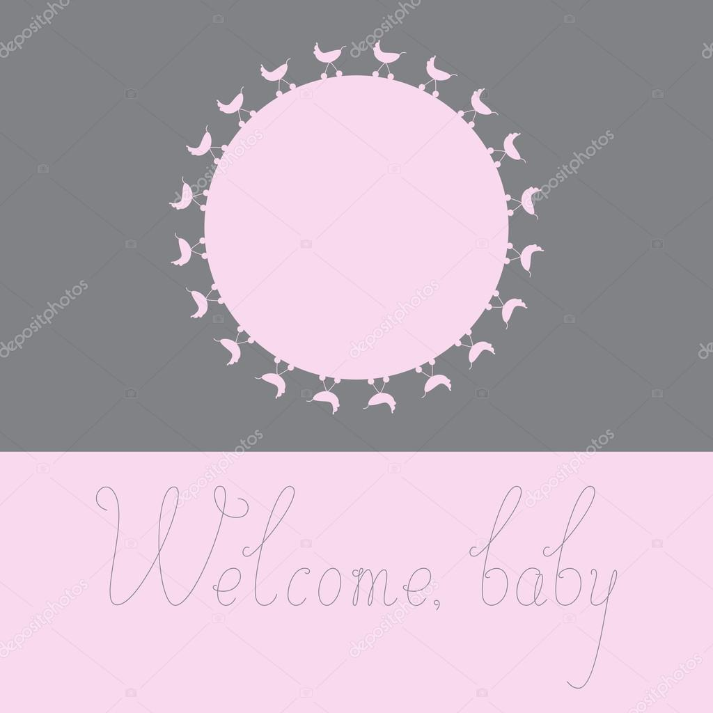 Welcome baby girl greeting card stock vector mborgali 82422064 welcome baby girl greeting card stock vector kristyandbryce Images
