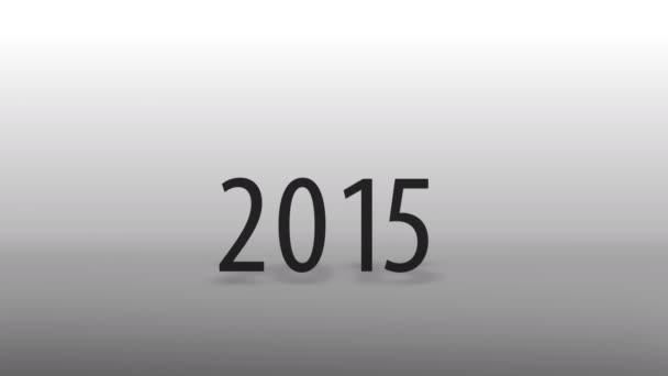 Nový rok a špičkové technologie. kalendářní datum 2015 2016