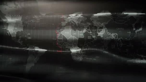 3d animated flag world earthe in 4k.
