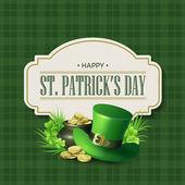 St. Patricks Day ročník dovolené odznak designu. Vektorové ilustrace