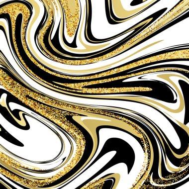 Vector Illustration of Marbling Texture. For Design, Website, Background, Banner. Ink Liquid Element Template. Vector illustration