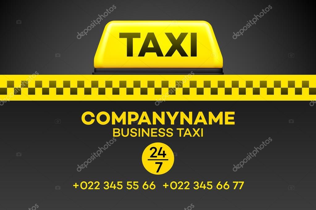 Carte De Visite Taxi Ou Une Affichette Illustration Vectorielle Eps10 Vecteur Par Vik Y