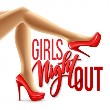 Girl Night Out Party Design. Vector illustration