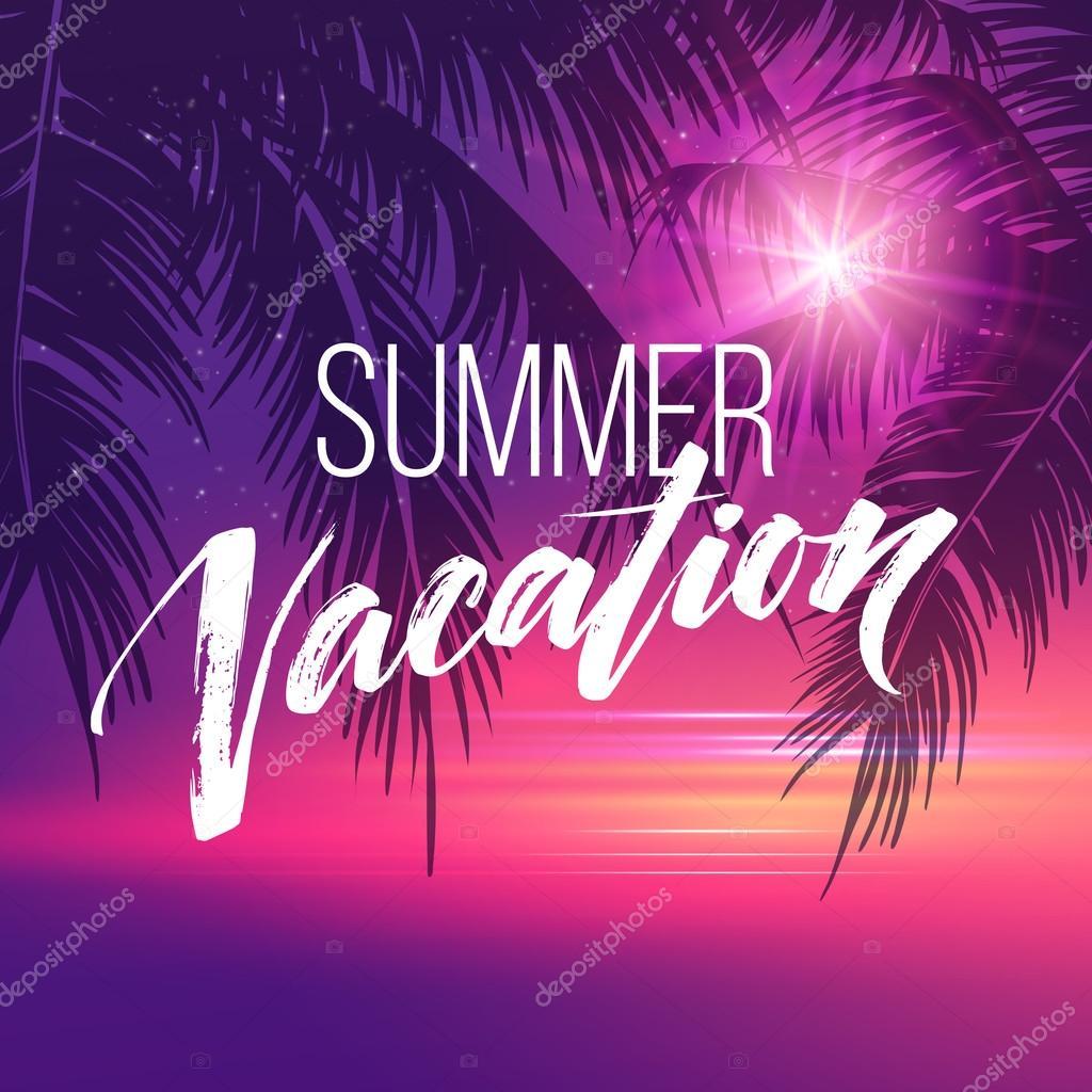 Letra de vacaciones de verano. Tipografía, la rotulación y la ...