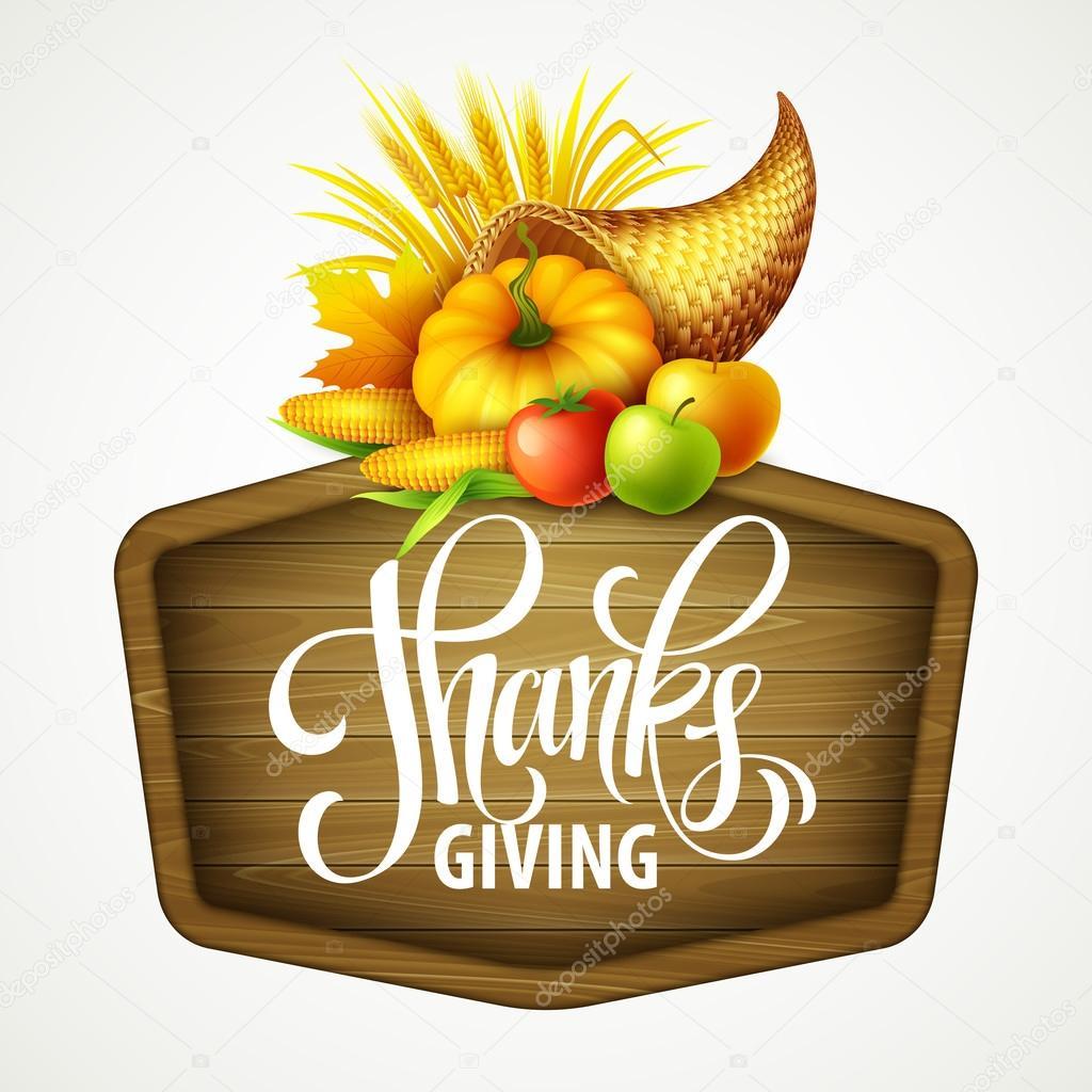 Beispiel für ein Thanksgiving Füllhorn voller Ernte Obst und Gemüse ...