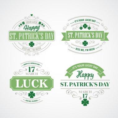 Typography St. Patricks Day. Vector illustration