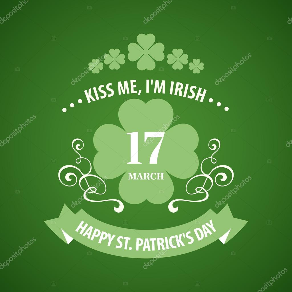 Typography St. Patricks Day. Vector illustration