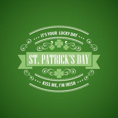 Typography St. Patricks Day. Vector illustration EPS 10