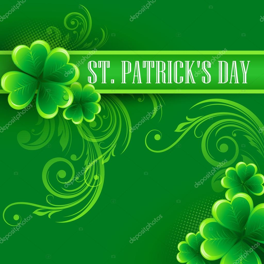 Typography St. Patricks Day. Vector illustration EPS 10