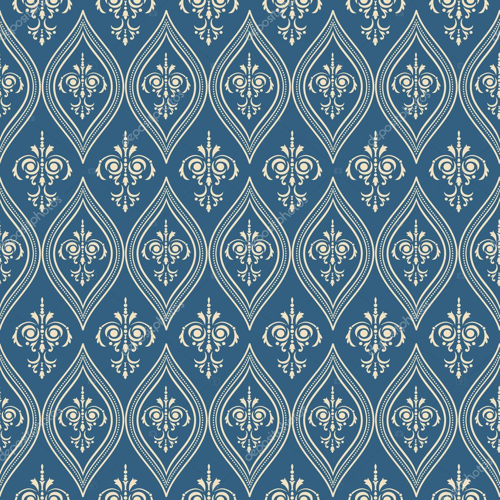 Damascus pattern. Seamless vintage background. Vector