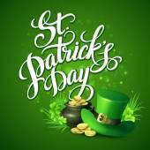 St. Patricks Day pozdrav. Vektorové ilustrace