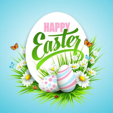 Easter poster. Vector illustration