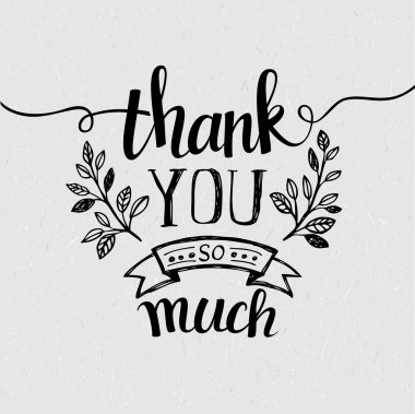 Lettering Thank you. Vector illustration stock vector