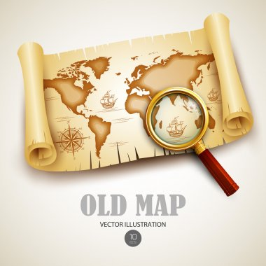 Old map. Vector illustration