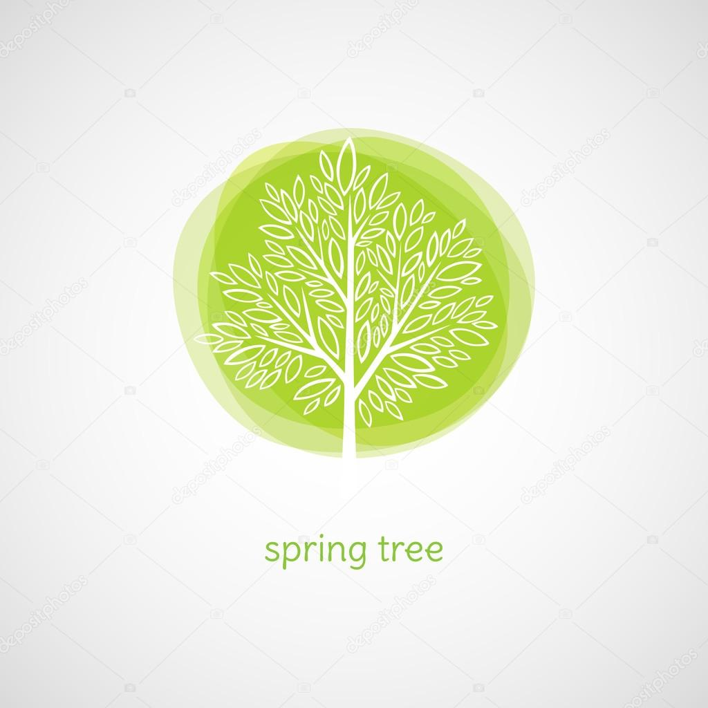 Spring Tree. Vector illustration