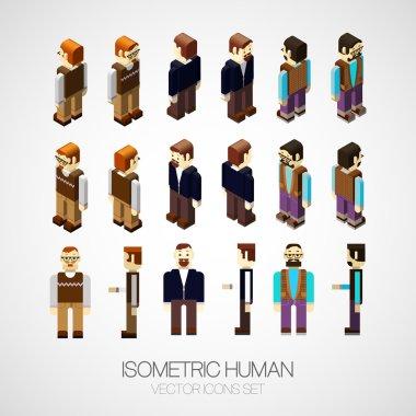 Isometric human set