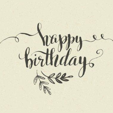 Happy Birthday Hand-drawn card. Vector illustration clip art vector