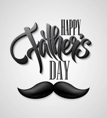 Happy Fathers Day mustache card.