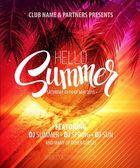 Fényképek Hello nyári Beach Party szórólap. Vector Design