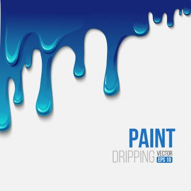 Paint colorful dripping background, vector illustration