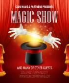 Magic Tricks, Leistung, Zirkus, Showkonzept. Vektor-illustration