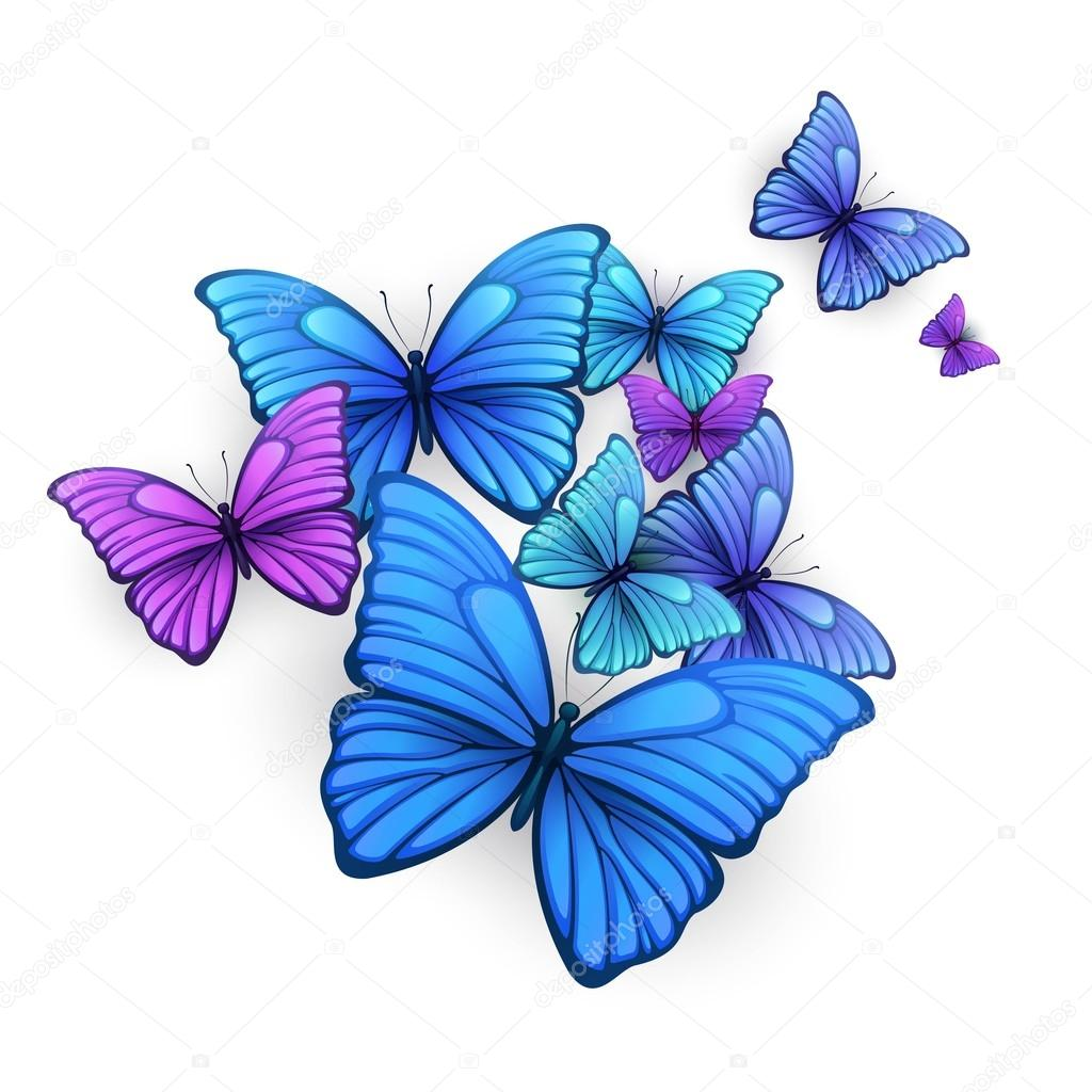 Vector butterflies background design.