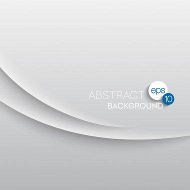 Abstract wave white background. Vector illustration