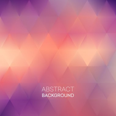 Abstract blur triangle pattern background. Vector illustration