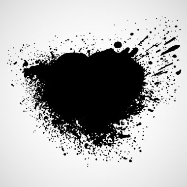 Paint stains black blotch background. Vector illustration