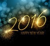 Nový rok 2016 se prskavka. Vektorové ilustrace