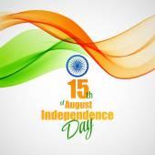 Fotografia Concetto creativo di Indian Independence Day. Illustrazione di vettore