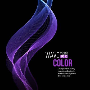 Abstract smooth  light lines vector background.