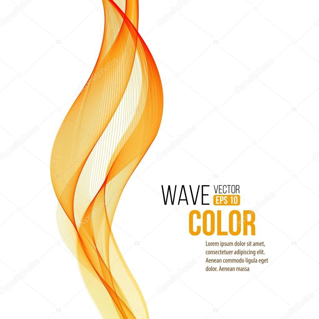 Abstract orange wave design element. Vector illustration
