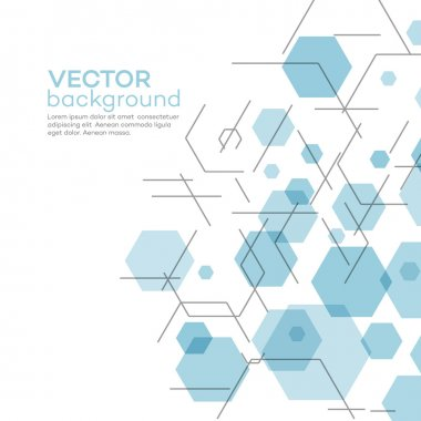 Abstract background with hexagons. Vector illustration EPS 10 stock vector