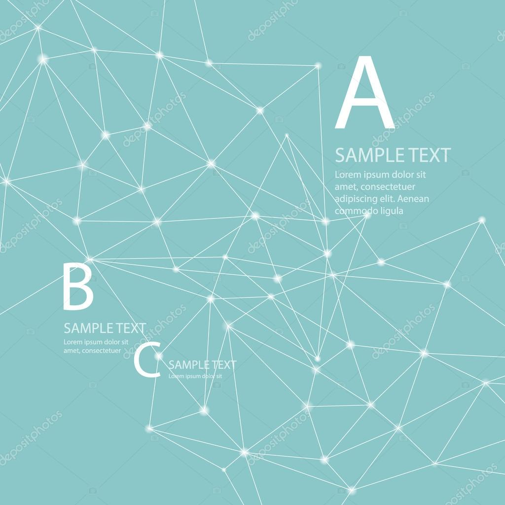 Abstract background with triangle. Vector illustration