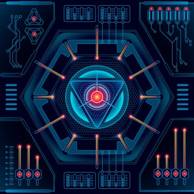 Abstract future technology concept background. Vector illustration