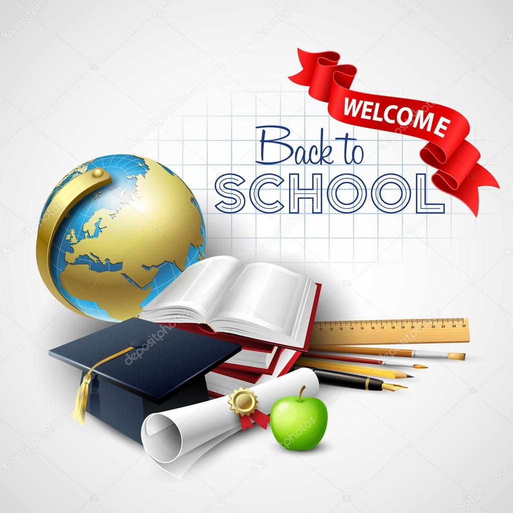 Welcome back to school. Vector illustration
