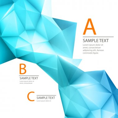 Abstract 3D triangle geometric background