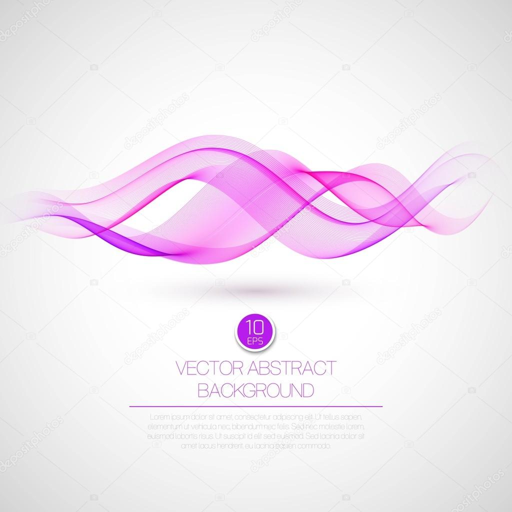 Wave smoke background. Vector illustration