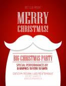 Vánoční večírek plakát. Vektorové ilustrace