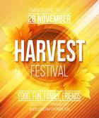Harvest Festival plakát. Vektorové ilustrace