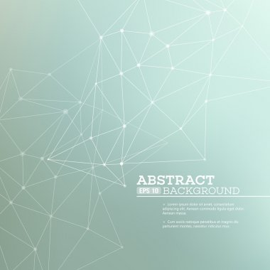 Abstract background with  connection concept. Vector illustration