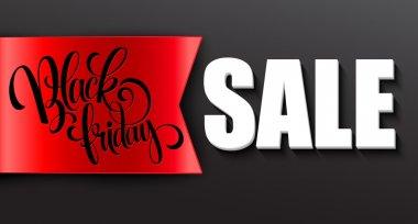 Black friday sale design template. Vector illustration