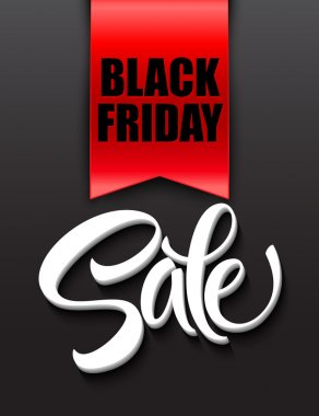 Black friday sale design template. Vector illustration