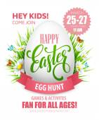 Easter Egg Hunt  poster. Vector illustration