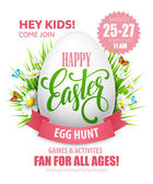 Fotografie Easter Egg Hunt-Poster. Vektor-illustration