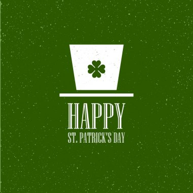 St. Patricks Day flat card design. Vector illustration