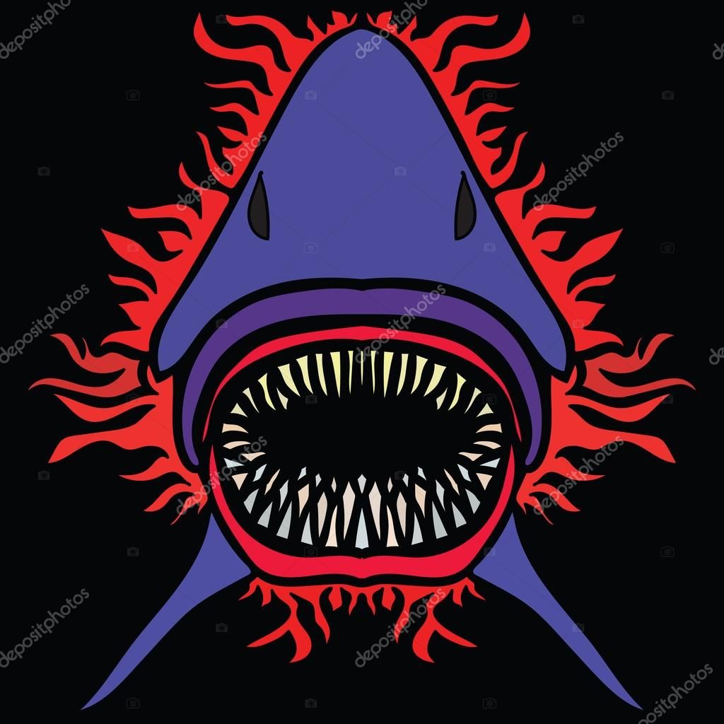 Colorful vector image of shark in abstract art style — Stock Vector ...