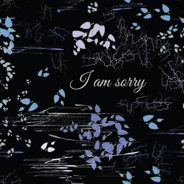 I Am Sorry seamless pattern in abstract style