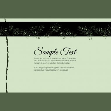 Elegant vector lettering in abstract style with place for text. Perfect for invitations, greeting cards, save the date.